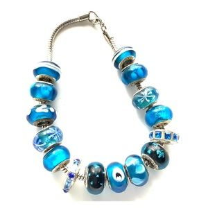 Jewelry - Ocean Blue Glass bead Ankle Bracelet